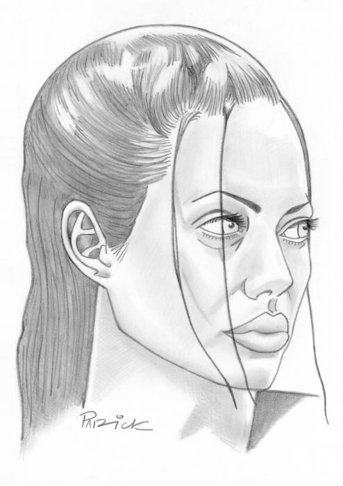 Angelina Jolie por PatKane